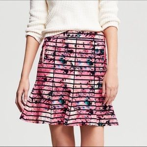 Banana Republic Bella Stripe Skirt Sz 8 Watercolor